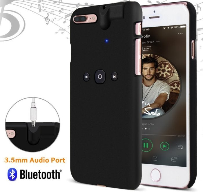 comsoon bluetooth case iphone 7 headphone jack