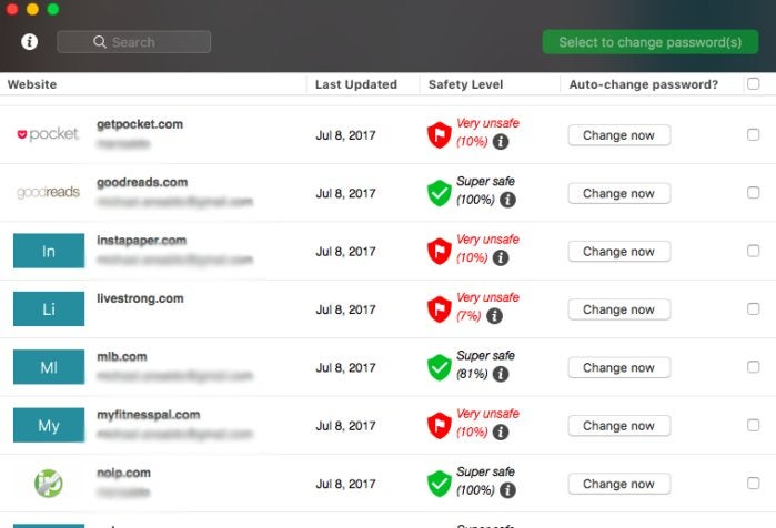 dashlane password changer