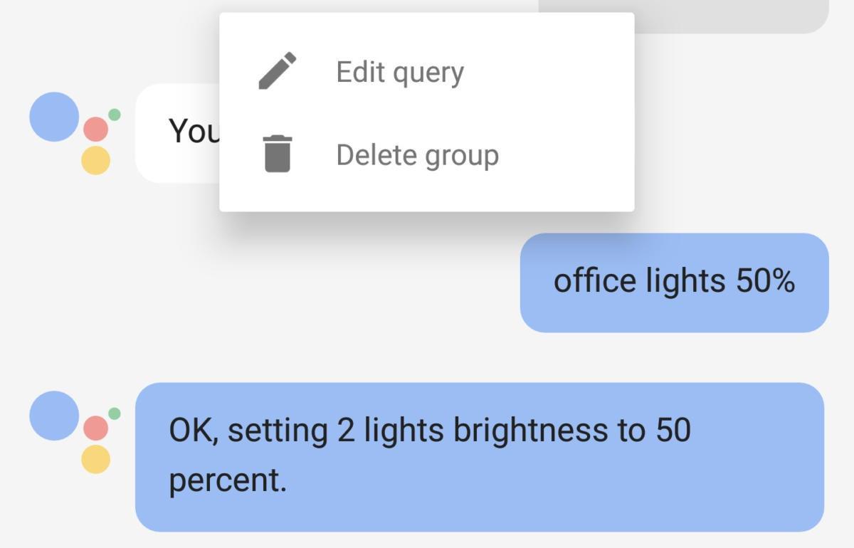 google assistant editing