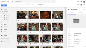 google backup sync drive view web