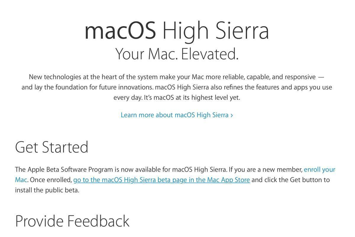 high sierra signup page