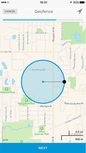 Honeywell Lyric geofencing