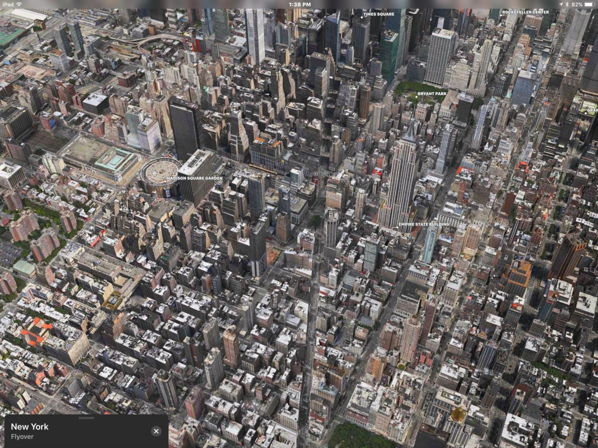Maps flyover of NYC