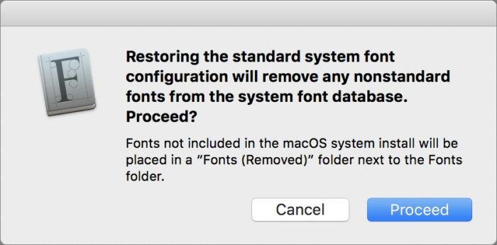 mac911 font book reinstall standard fonts
