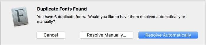 mac911 font book remove duplicates