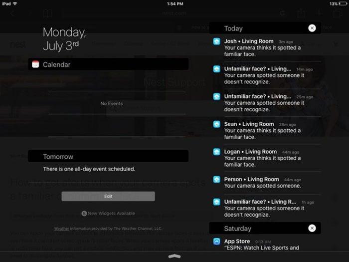 nest notifications
