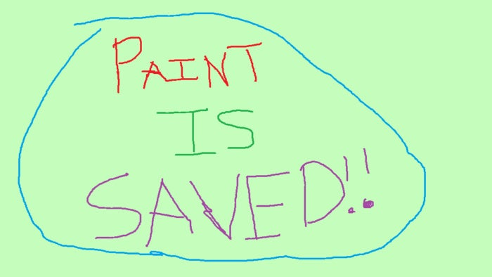 microsoft paint is saved