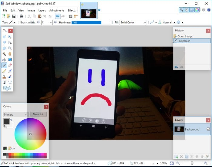 paint net phone pic