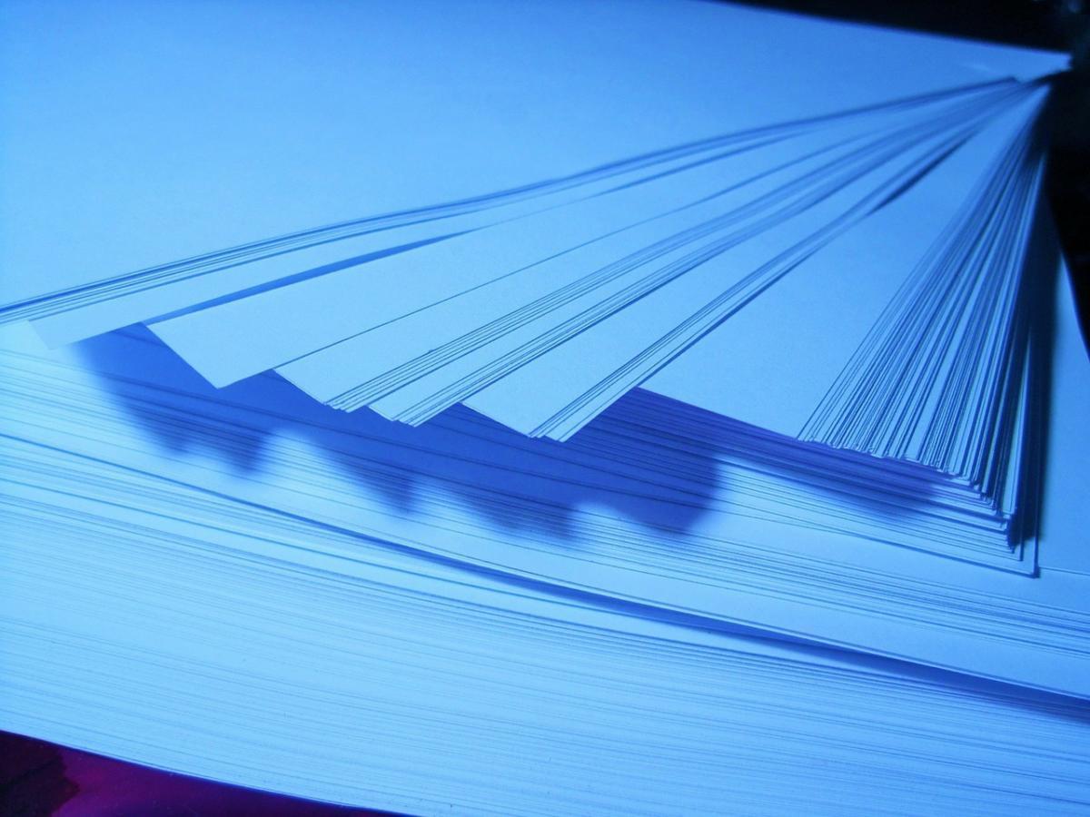 azure blue paper ream