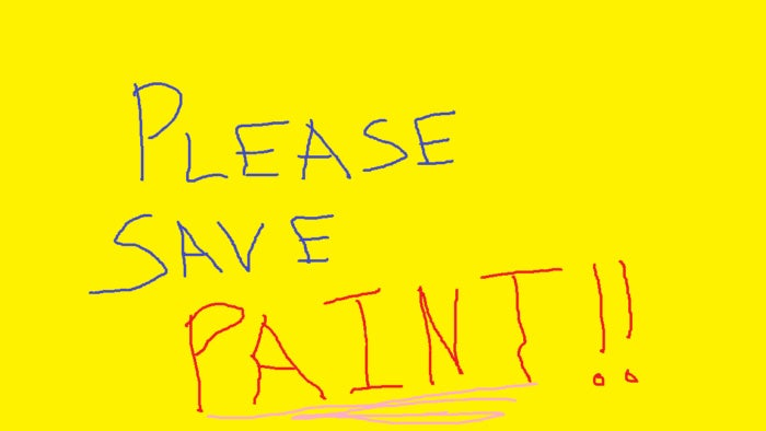 please save microsoft paint