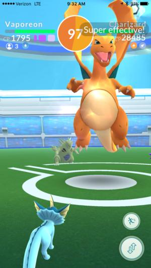 pokemongo raidbattle fight