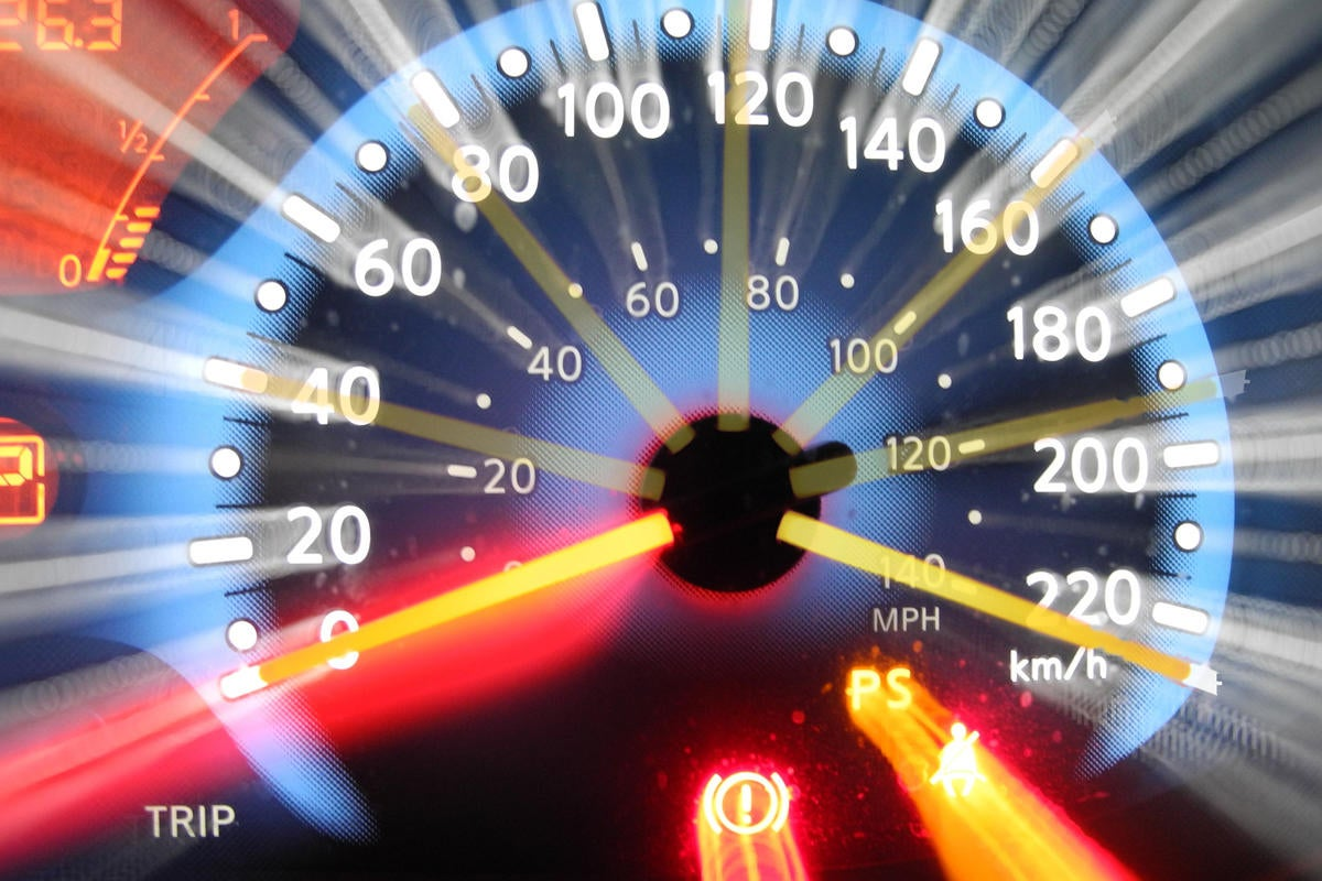 racing speed speedometer fast