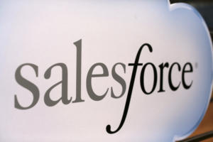 Salesforce logo and sign