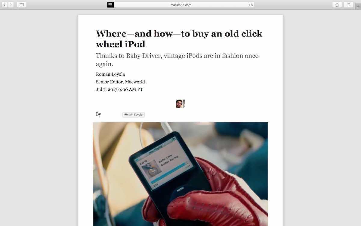 ada7f662f95b How to use Reader mode in Safari 11 | Macworld