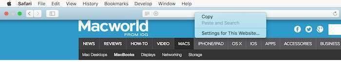 safari 11 reader mode right click url box