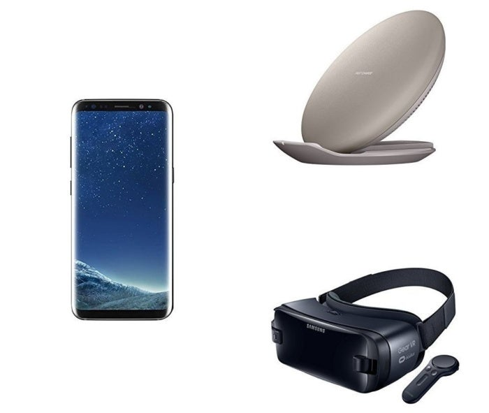 Samsung Galaxy S8, fast charger, and Gear VR Amazon Prime Day Bundle