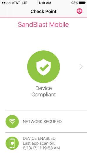 sandblast mobile phone status screen
