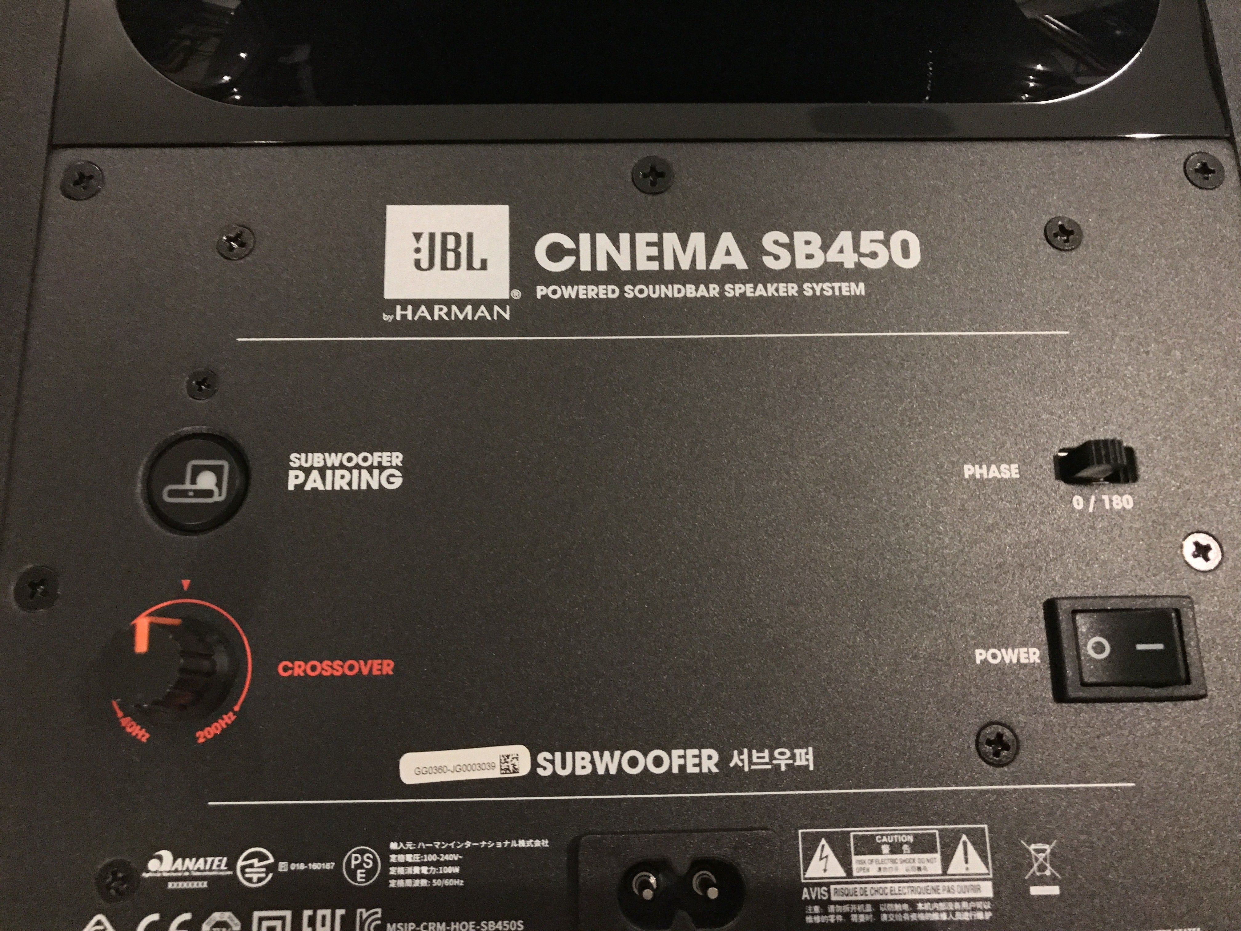 Jbl Cinema Sb 450 Soundbar Review This Speaker Is Made For Movie Tone Control Include Subwoofer Out Sb450 Sub