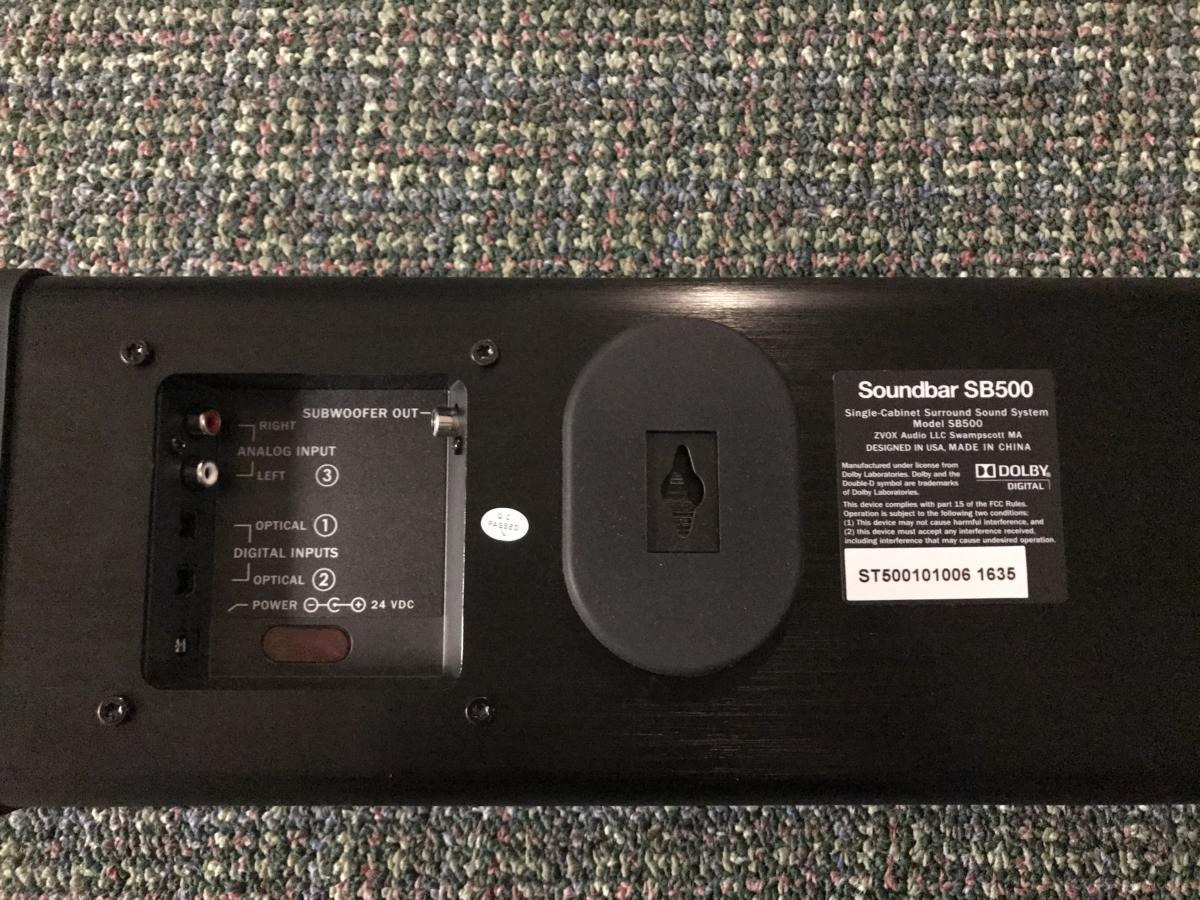 SB500 rear panel