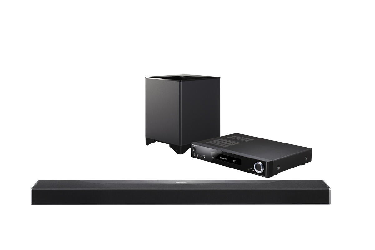 Onkyo sbt a500 soundbar review dolby atmos and dts x for Yamaha yas 107 review