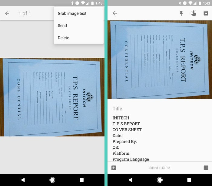 Scan Documents Android Phone: Google Keep