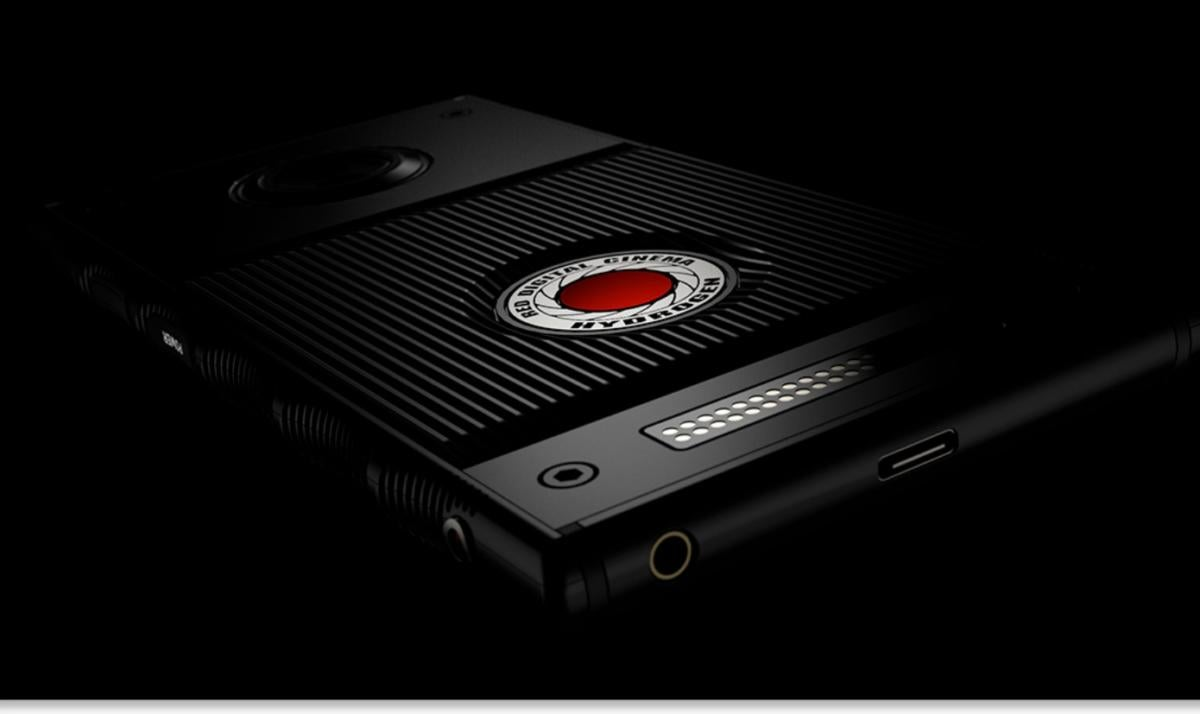 Red 3D smartphone