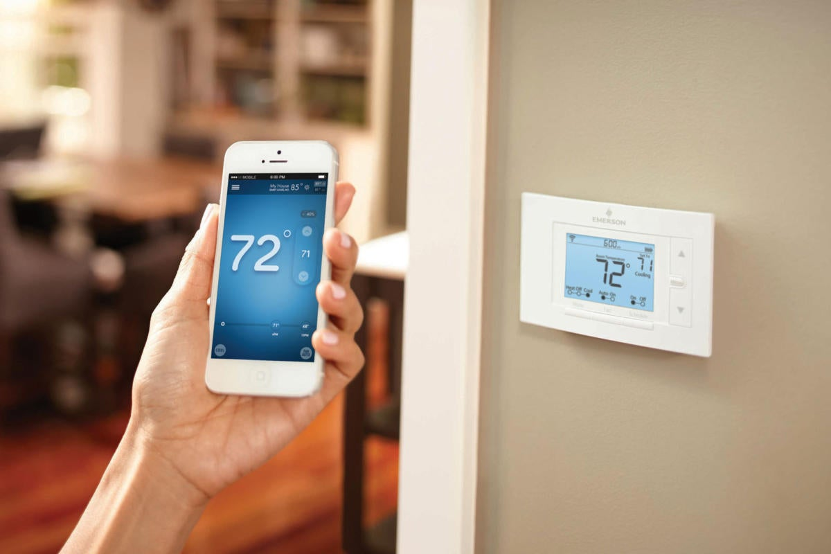 Sensi smart thermostat installed