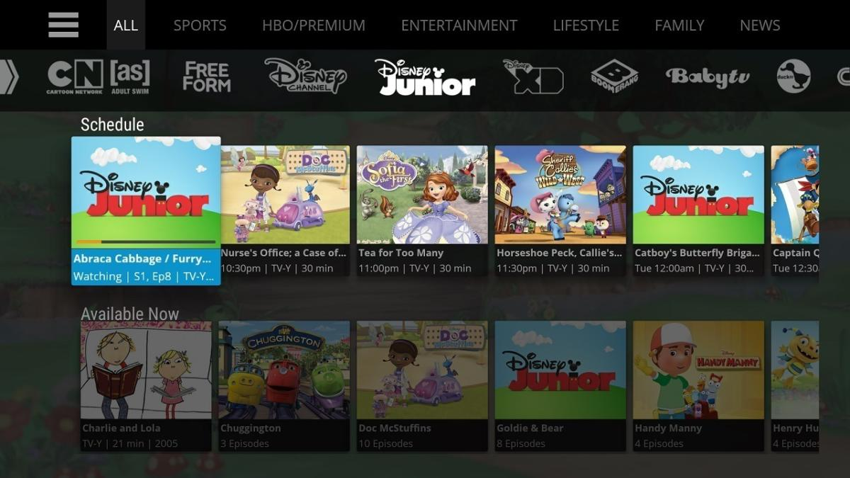 sling tv channel guide