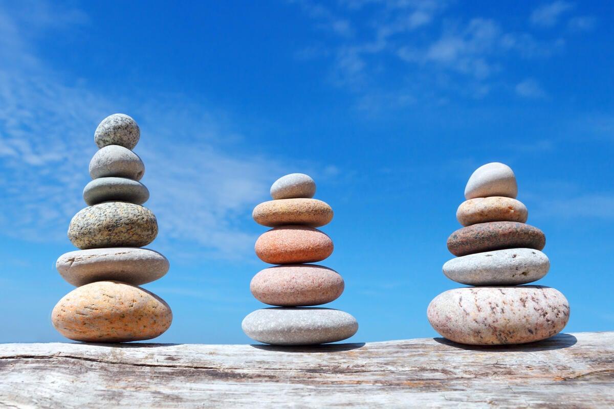 sort filter piles  rocks zen