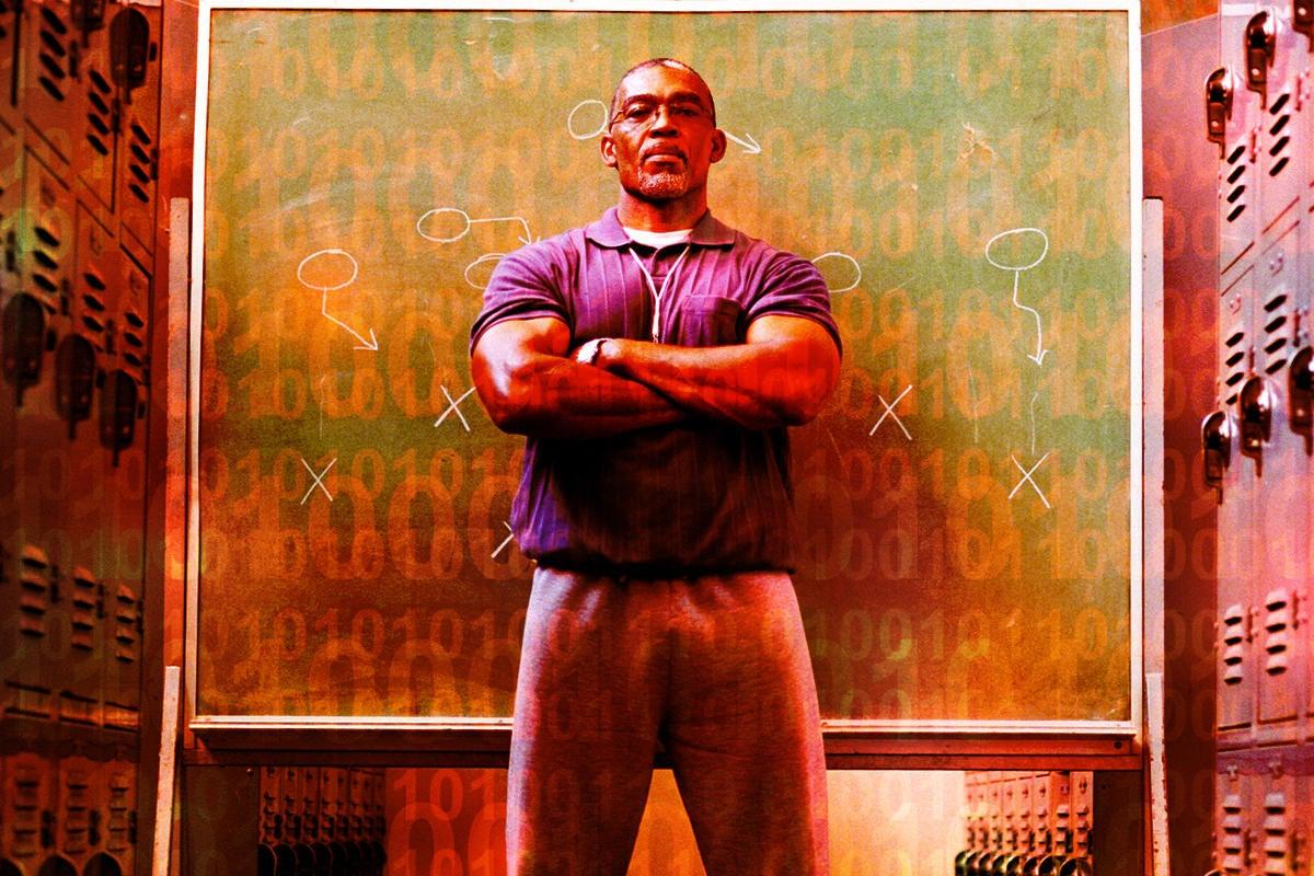teach train coach locker room chalkboard