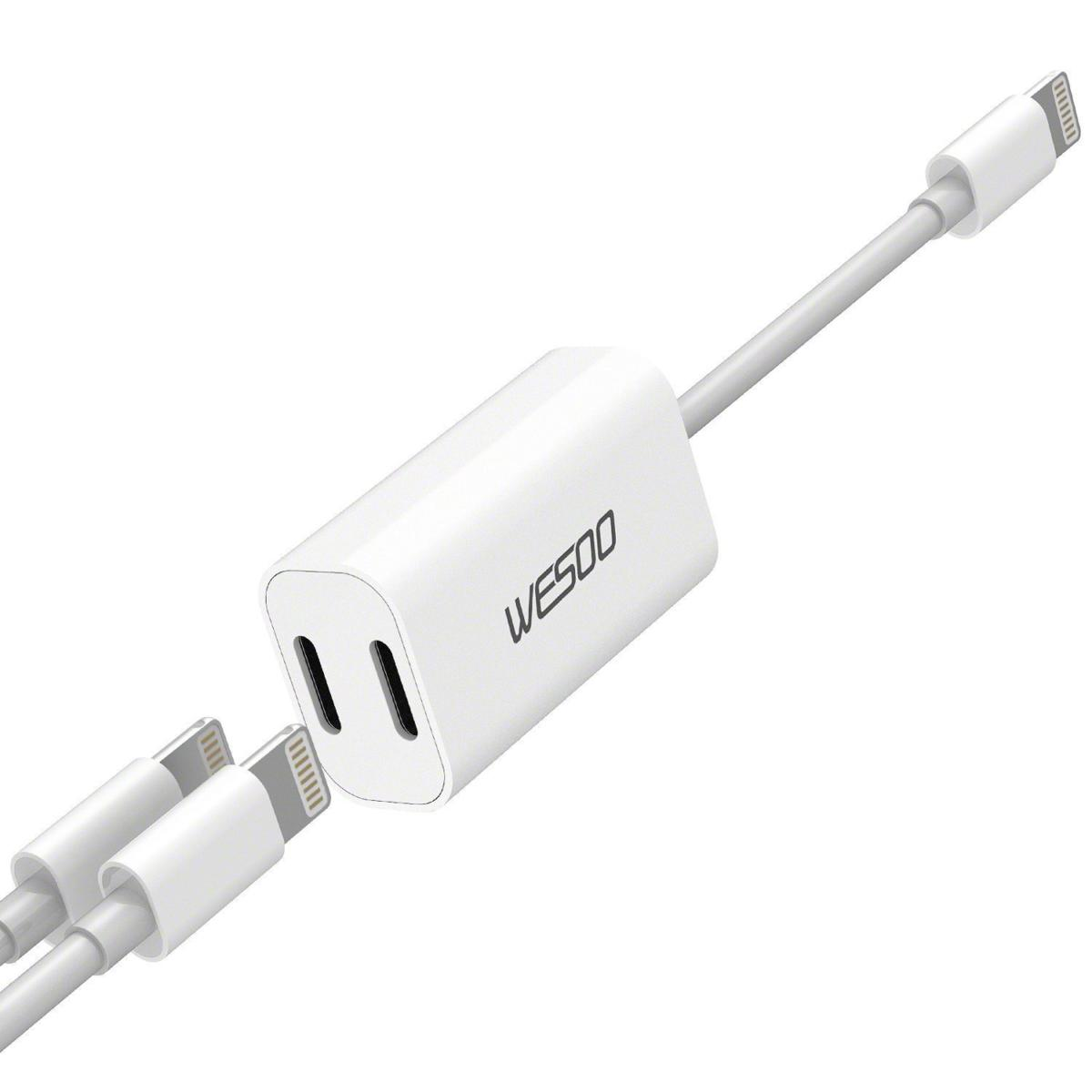 wesoo dual lightning adapter iphone 7 headphone jack