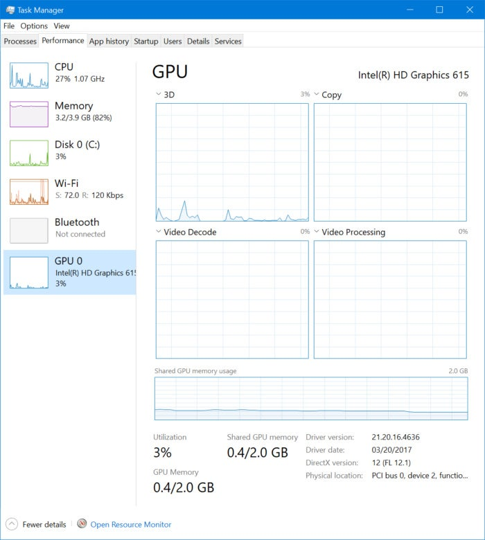 windows 10 fall creators update gpu task manager