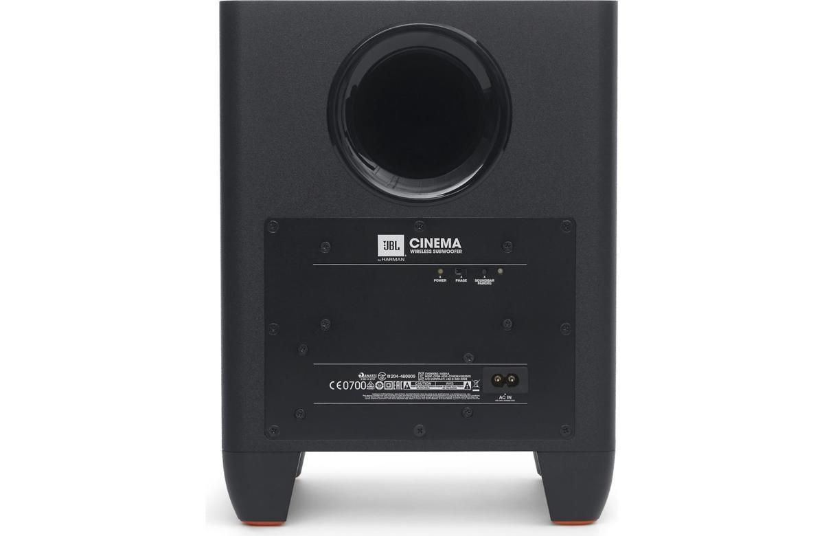 The SB250's subwoofer is a rear-ported design and has a phase switch to help tailor the sub's phase
