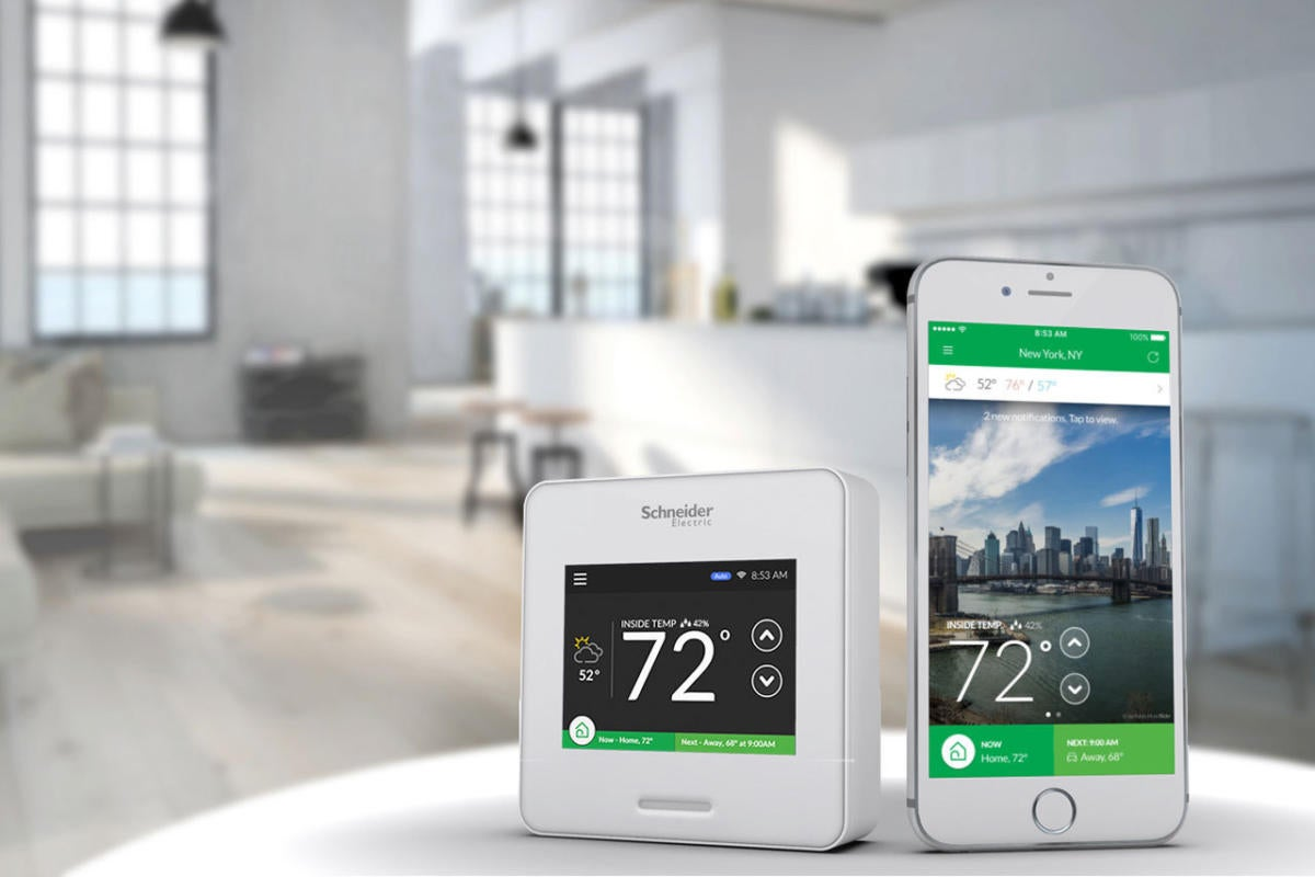 Wiser Air lifestyle white w humidity