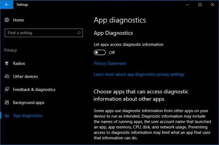 10 app diagnostics