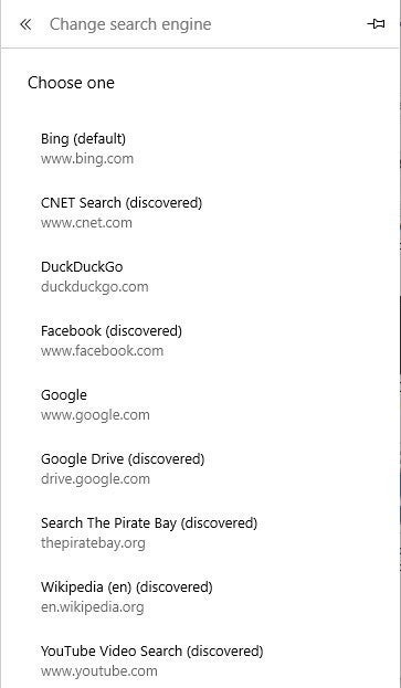 17 change default search engine in edge