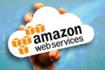 hand holding paper cloud for amazon web services logo