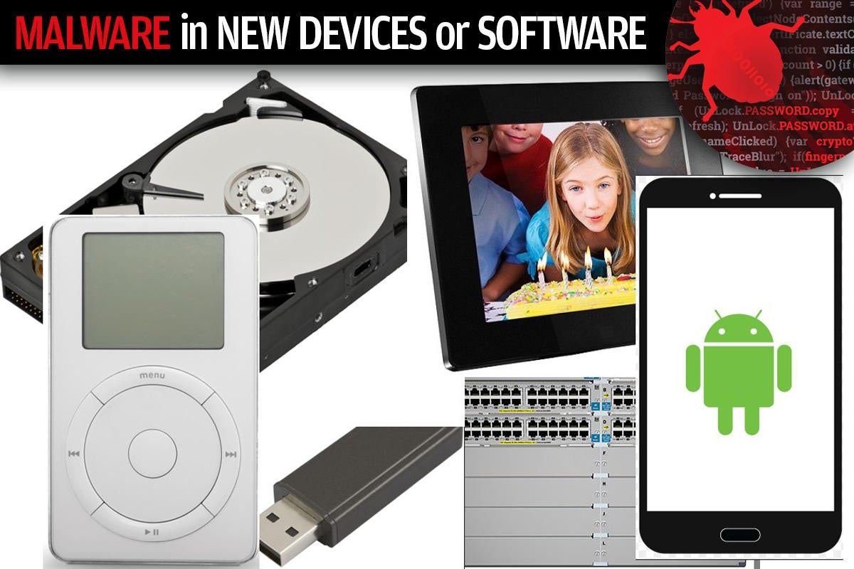 2 malware in new devices or software