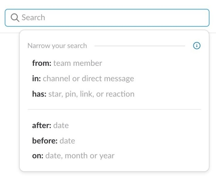Slack search