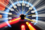 Car speedometer speed fast