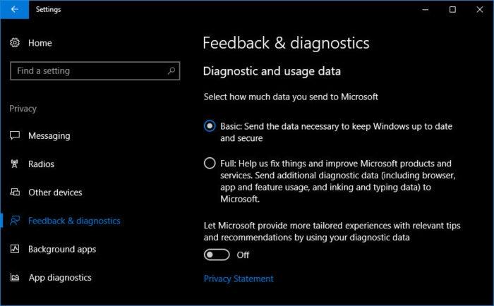 9 feedback diagnostics