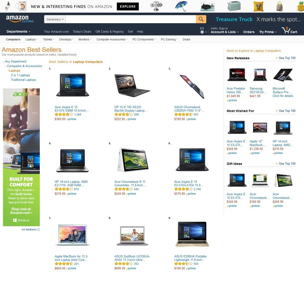 amazon best selling laptops period