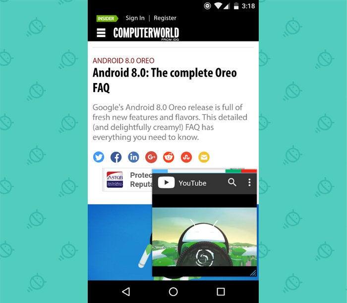 Android 8.0 Oreo Features: Picture in Picture - Floating Apps