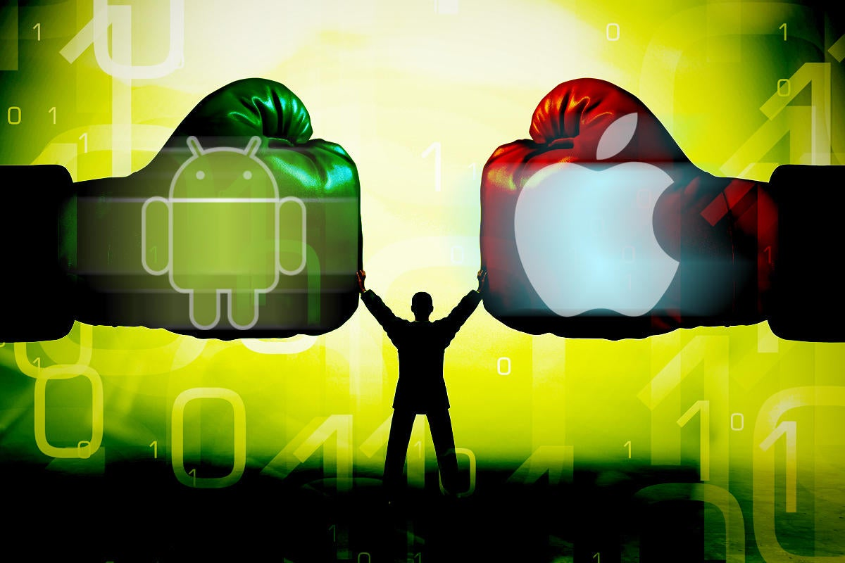 android vs ios security boxing battle boxing gloves