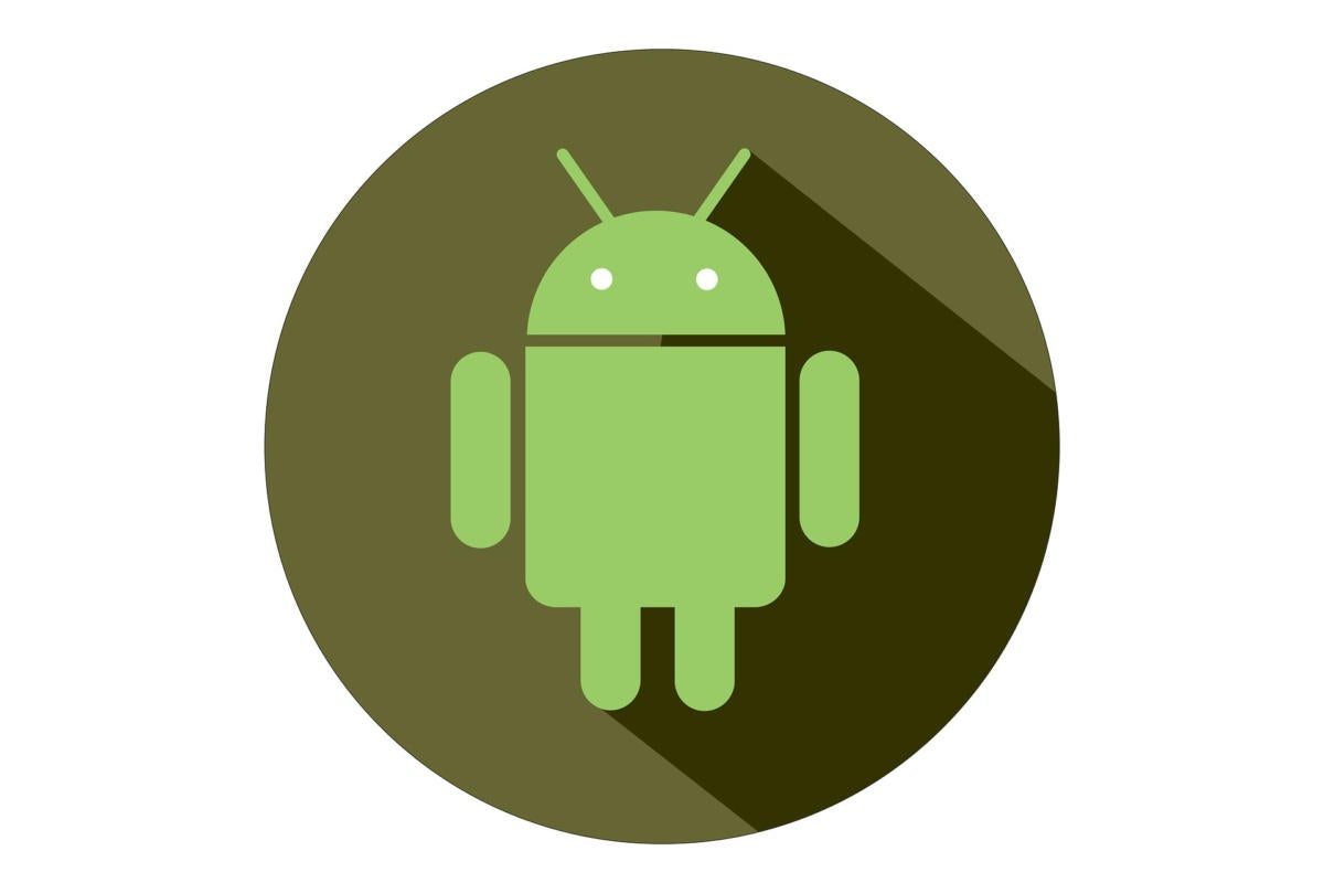 android robot logo with circle background