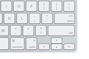 apple keyboard lower corner