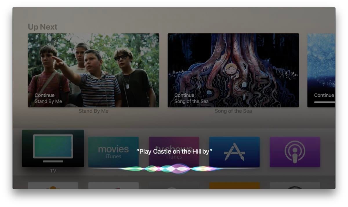 apple tv music siri