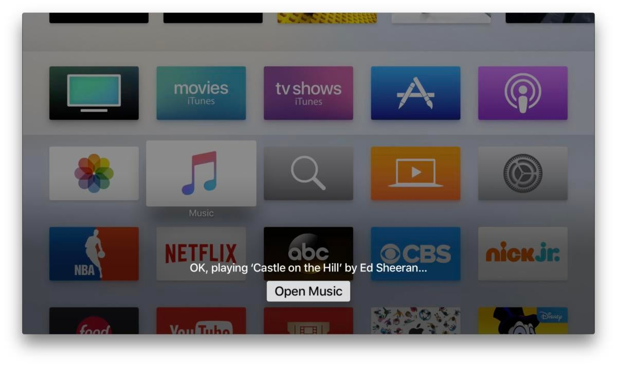 apple tv music siri 2