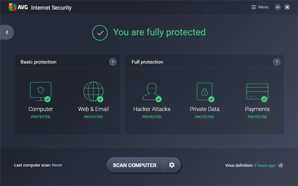 avg internet security uninstall error