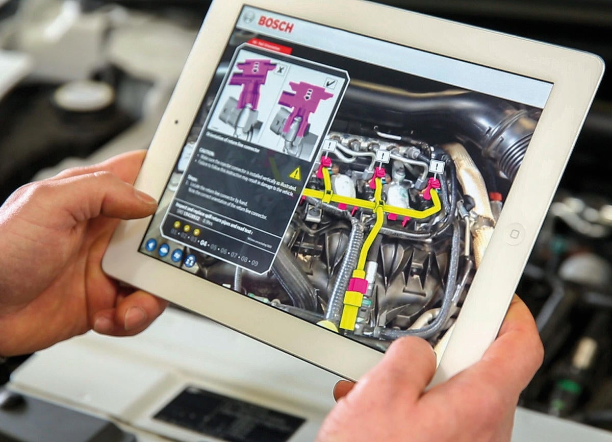 Bosch augmented reality app with repair instructions